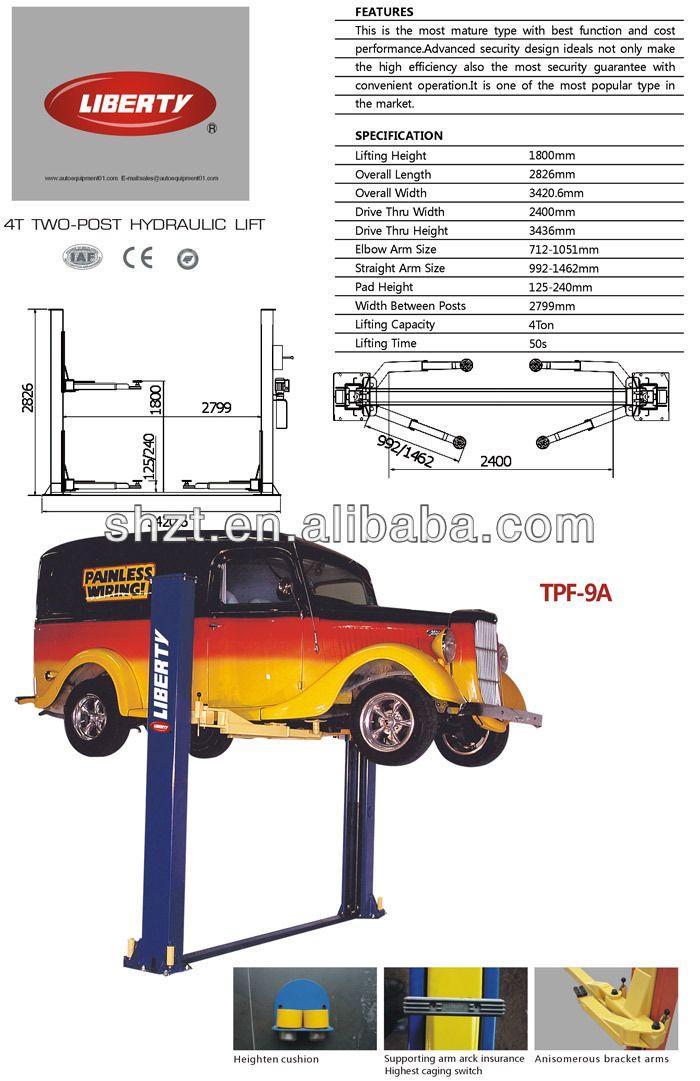 Hydraulic Two Post Car Lift $200~$3000