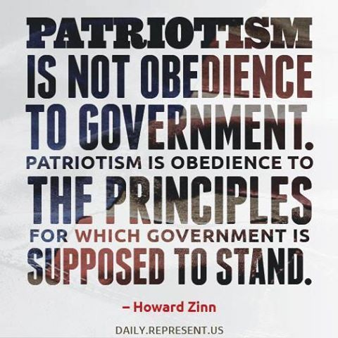 Howard Zinn, actually defined himself as an anarchist.