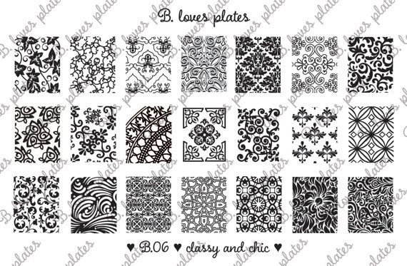 Are you ready? <3 So now we can show you our newest plate B.06 - CLASSY AND CHIC! <3 What do you think?  #nailart #stamping #preorder