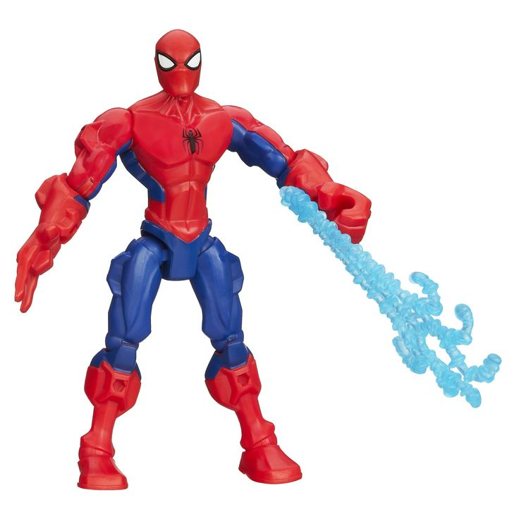 Marvel Super Hero Mashers Spider-Man Figure 6 Inches. High quality toys for children all ages. Made using safe materials. Tested for quality and durability. Super Hero Mashers figure is totally customizable. Head, arms and legs detach. Give him different superhero parts from other Super Hero Mashers figures (sold separately). Missile launcher works with any Super Hero Mashers mash-up. Includes figure and accessory.