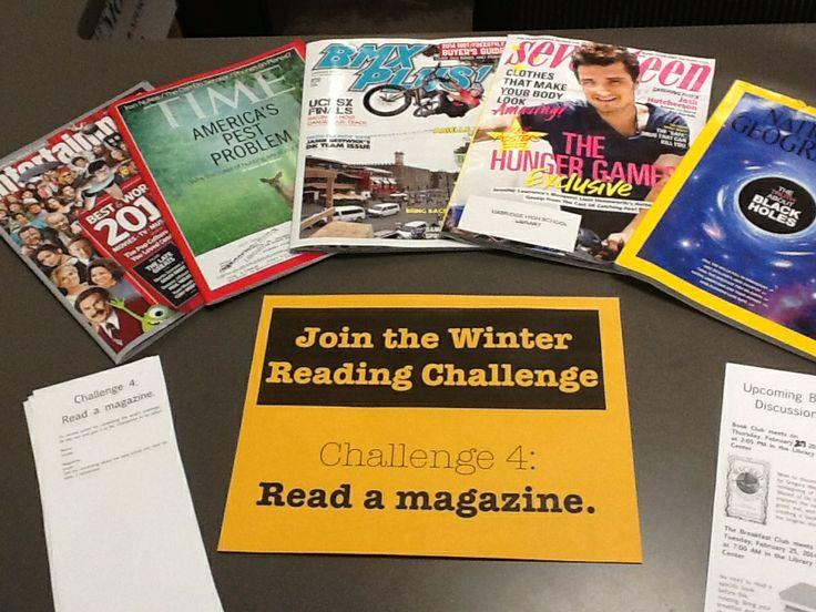 Challenge 4: Read a magazine.
