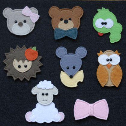 Купить Броши и аппликации - украшения для детей, аппликации, броши, фетр, полубусины, детские, животные, зверята