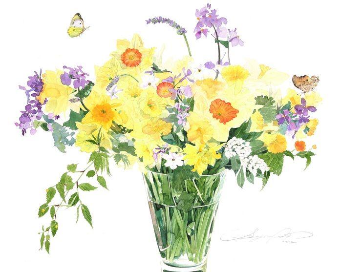 Such a pretty Spring bouquet! (from Murvet Gunduz)