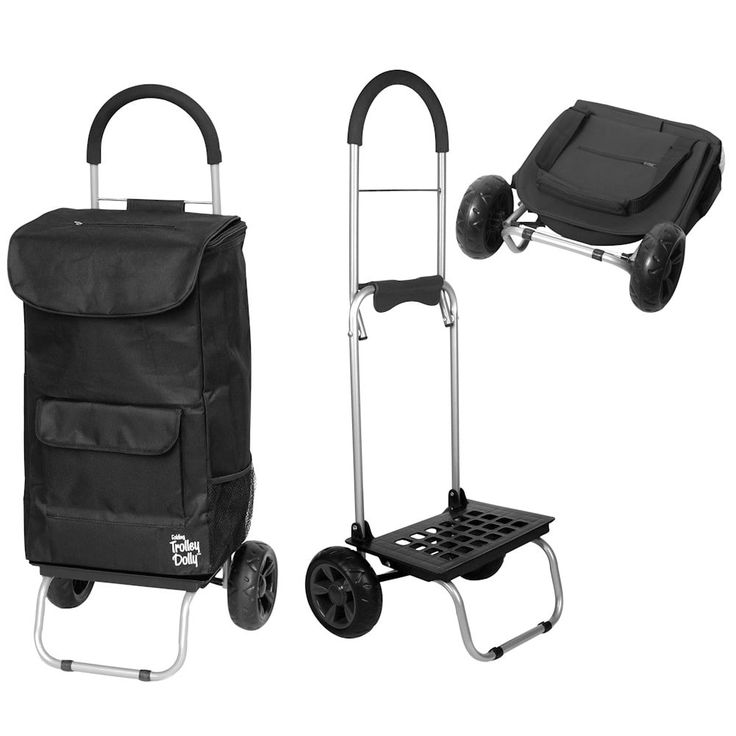 dbest products Bigger Trolley Dolly - Foldable Hand Cart and Bag (Purple)