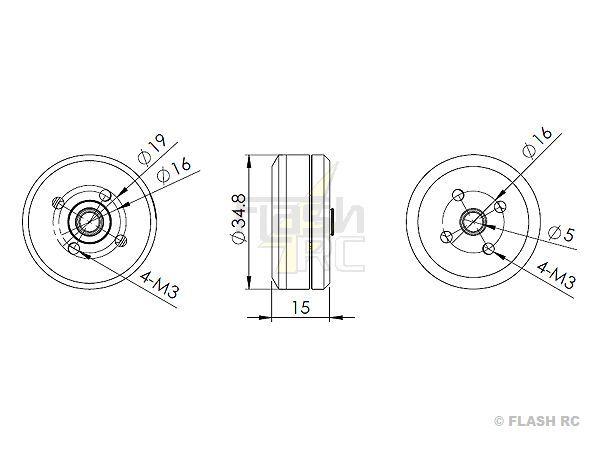 Moteur brushless nacelle GBM2804-HS (41.4g) RC TIMER