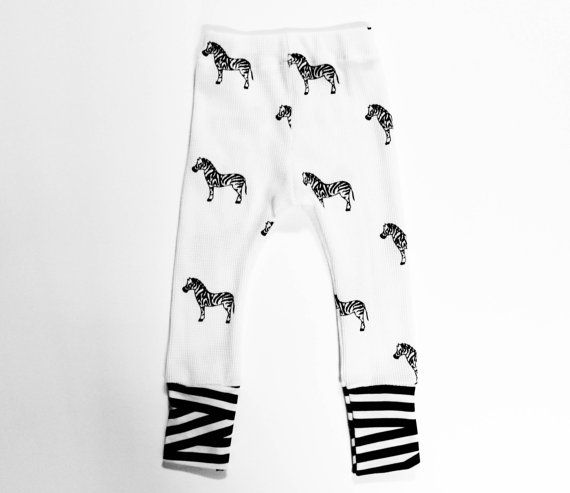 Size 2T Zebra Legging  unisex by duchessandlion on Etsy, $28.00
