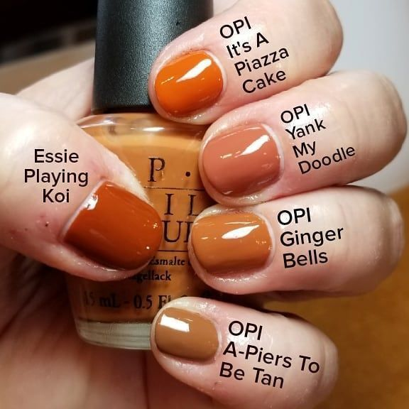 Orange Colors In 2020 Fall Gel Nails Nail Polish Nail Polish Colors