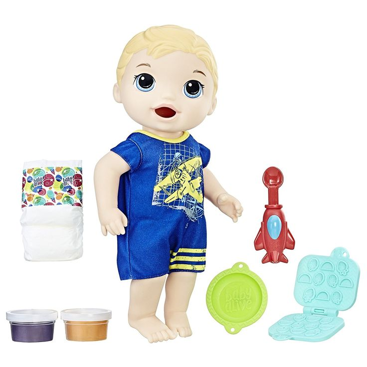AmazonSmile: Baby Alive Super Snacks Snackin' Luke (Blond): Toys & Games