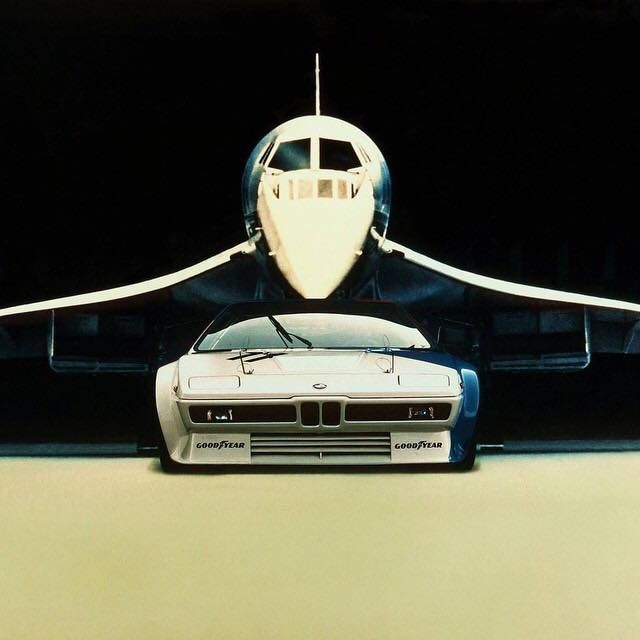 Bmw M1 and Concorde found via TyrannosaureMore cars here.
