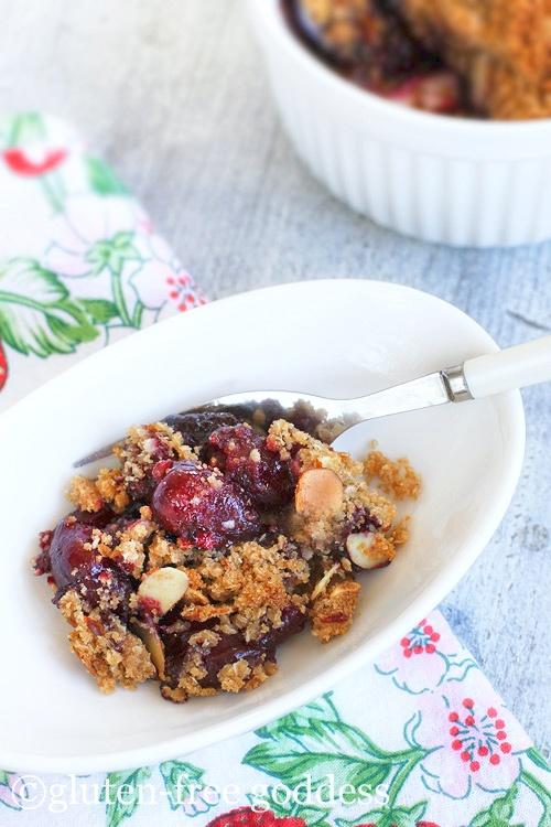 Vegan and Gluten-Free Cherry Almond Crisp