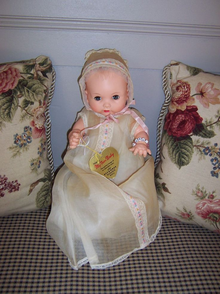 1950-1960 Effanbee My Fair Baby Doll - All Original: Effanb Dolls, Antique Dolls, American Dolls, Antiques Dolls, Dolls Baby, Dolls Items, Baby Dolls, Dolls Susi, Dolls Vintage