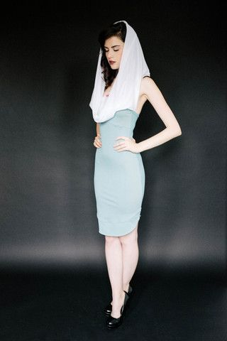 Laura Dress | by Suckers Apparel | Fitted hooded dress inspired by the unfortunate demise of Laura Palmer #Twin_Peaks