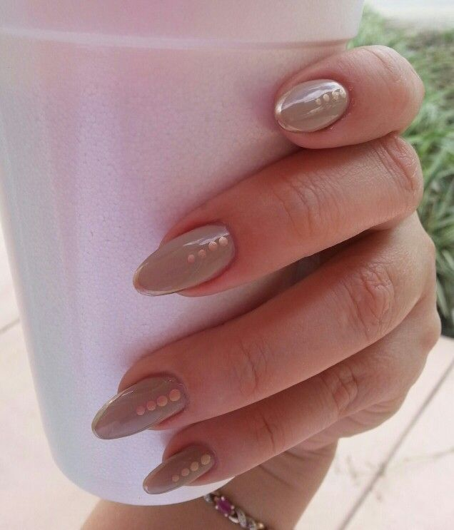 Gold and tan almond nails - 35 Best My Nails Images On Pinterest My Nails, Almond Nails And