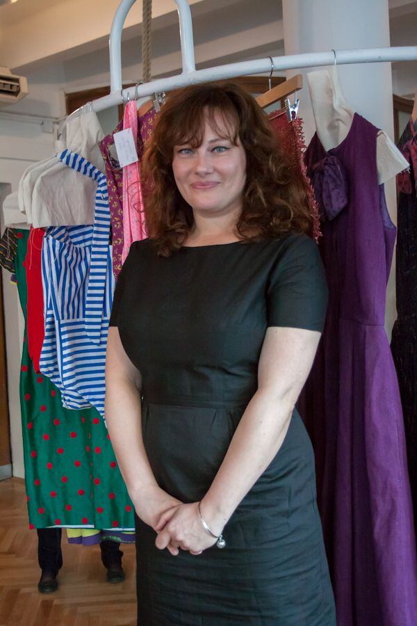 Designer Natalie Steklova at the opening of her new store Natalie Steklova Shop & Cafe  Photo Credit: Benjamin Vales