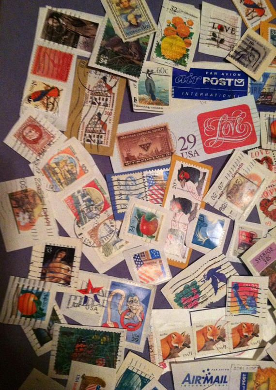 Big lot of 100+ vintage US and Worldwide postage stamps. Ive separated some of the stamps so you can see them, there are a lot more not shown in the photo. I have a huge stamp collection here that I inherited from my Uncle, also I collected stamps too. Greats stamps, some high values,