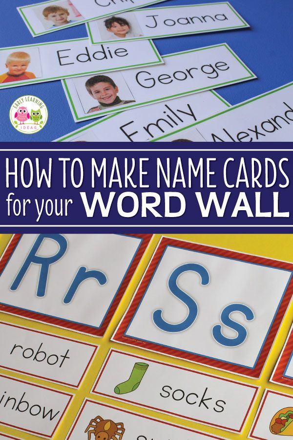 Name Cards Make Name Cards For Your Word Wall Word Wall Word Wall Kindergarten Name Activities