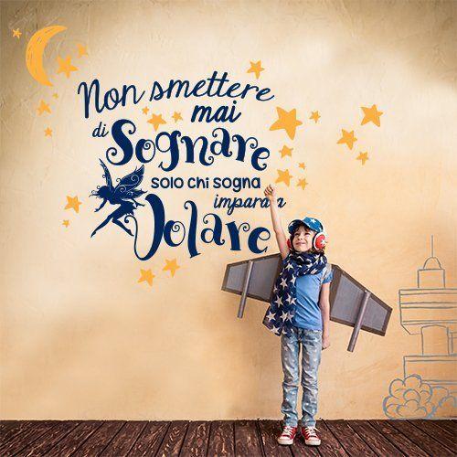 """LifeUp Disegn Originale- Adesivo Murale Frase in Italiano Soggiorno Camera da Letto """" In questa Casa"""" Adesivo da Pareti Muri"""