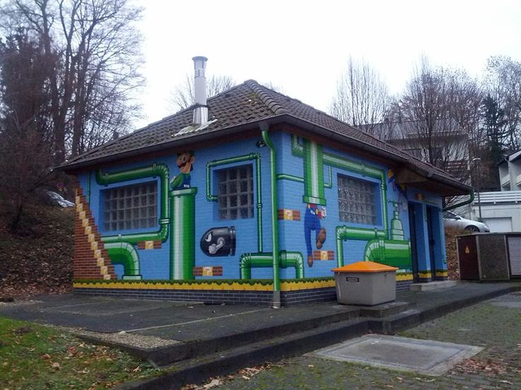 #Mario-inspired building via Reddit user  joystick355