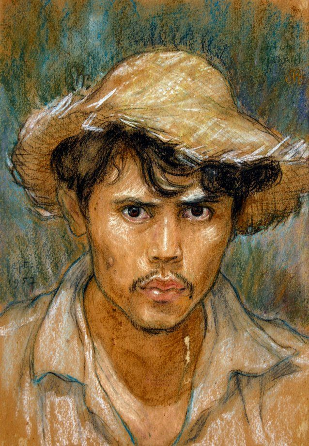 Masters of Modern Indonesian Portraiture Exhibition - National Portrait Gallery Self portrait, 1957 by Sunarto P. R.
