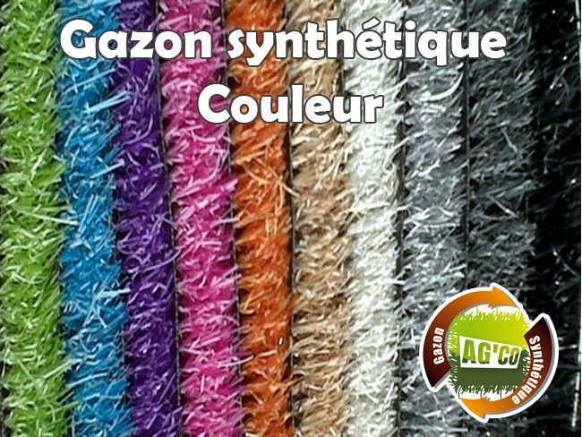 gazon synthétique couleur