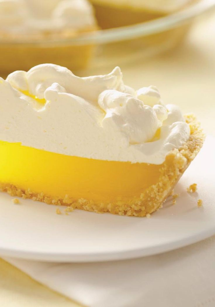Easy Lemon Meringue Pie – It's not exactly a lemon meringue pie. Rather, it's a luscious lemon pie with a cookie crust and a yummy, easy-to-make marshmallow-COOL WHIP topping. Enter the Celebrate Delicious Spring Desserts Pin to Win Sweepstakes! Pin your favorite dessert or select your own for a chance to win a professional mixer! Visit www.kraftrecipes.com/springdesserts/?affiliate_id=1a for complete details.
