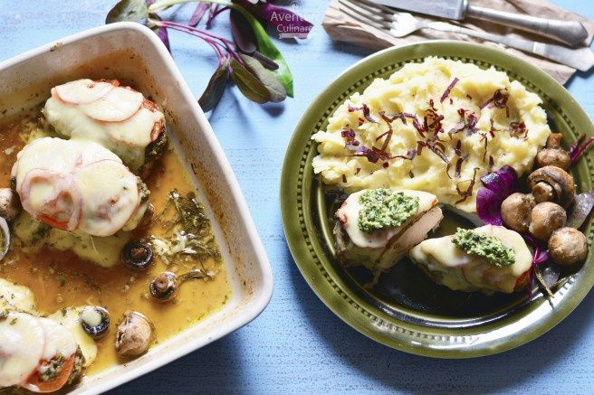 Piept de pui cu pesto de leurda – Aventuri Culinare In 2