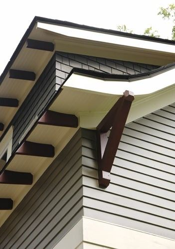1000 images about exterior details on pinterest for Craftsman gable brackets