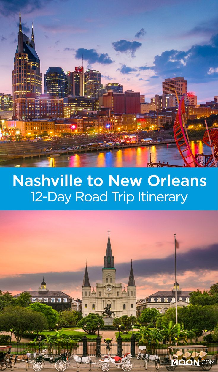 In just under two weeks, you can wind your way from one epic music and food city to the next. Check out this 12-day Nashville to New Orleans road trip itinerary for an unforgettable trip through Southern culture, history, and nature. #nashville #neworleans #tennesee #roadtrip #louisiana