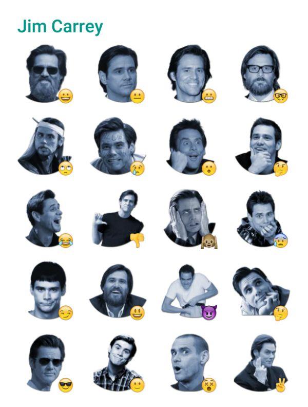 Jim Carrey sticker pack