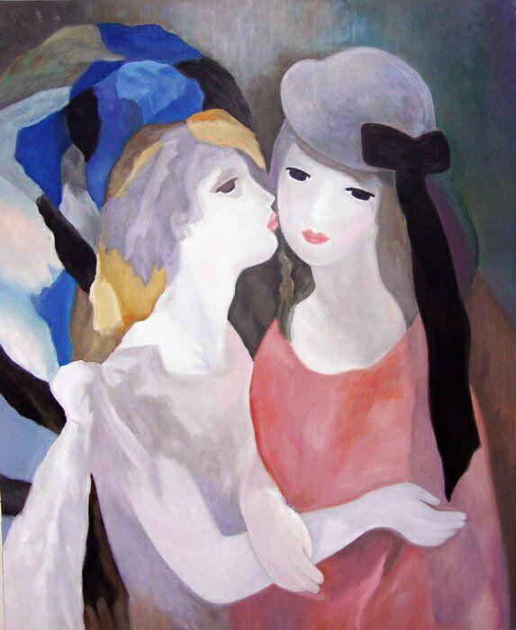 楽天市場】油絵 マリー・ローランサン_二人の少女 2:絵画制作専門アートユーラシア   マリーローランサン, アートのアイデア,  インスピレーションあふれるアート