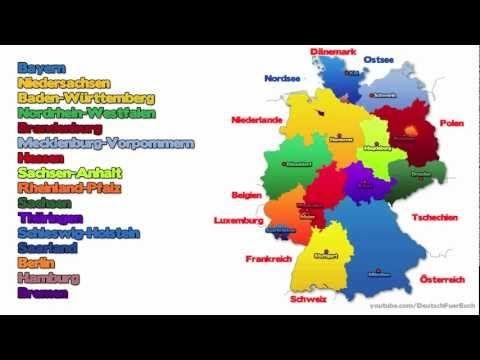 Learn German - Episode 9: The German Federal States/Die Bundesländer - YouTube