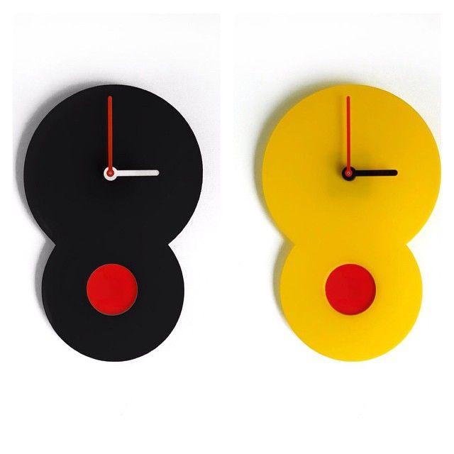 """Otso Wall Clocks. Acrylic, battery operated #ylayastudio #wallclock #homeaccessories"""