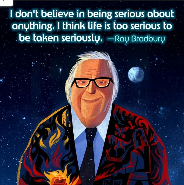 R.I.P. Ray Bradbury... (August 22, 1920 – June 5, 2012) author of Farenheit 451, Martian Chronicles, The Illustrated Man and so much more.
