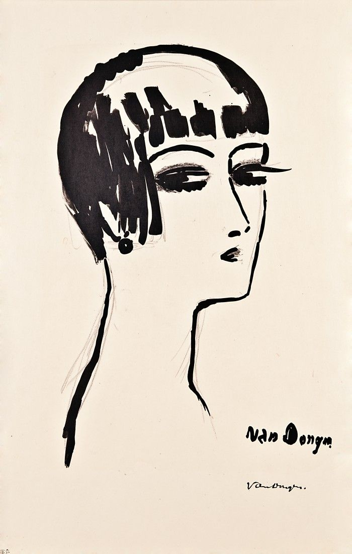 """Cornelis Theodorus Maria """"Kees"""" van Dongen was bornin Delfshaven (now part of the municipality of Rotterdam)and died in Monaco in 1968.He was a pupil of the Rotterdam Academy of Fine Art.He was a painter as well as a sculpter and ceramist.Kees van Dongen made oilpaintings, watercolours, pastels,drawings and lithographs.Above all Van Dongen became famous for his portraits andfemale nudes, but he was equally admired for his paintings oflandscapes, townviews and flowers.Kees van Dongen was a…"""