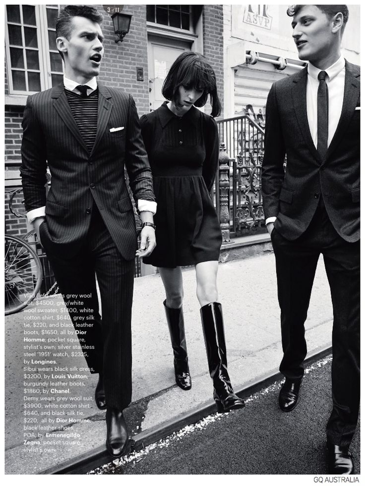 Vladimir Ivanov + Demy Matzen Model 60s Inspired Fashions for GQ Australia image Mod Styles Fashion Editorial GQ Australia 004