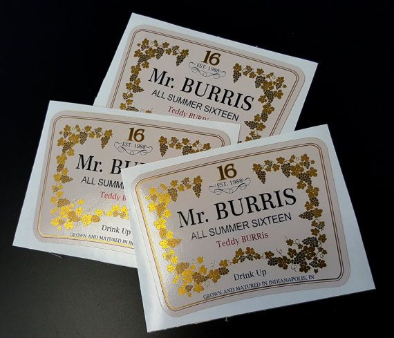 Personalized Gold Foil Labels Fits Hennessy by LiquorLabelsShop