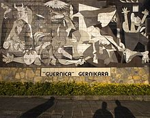 Guernica (painting) Picasso, 1937 described as depicting the tragedies of the Spanish Civil War