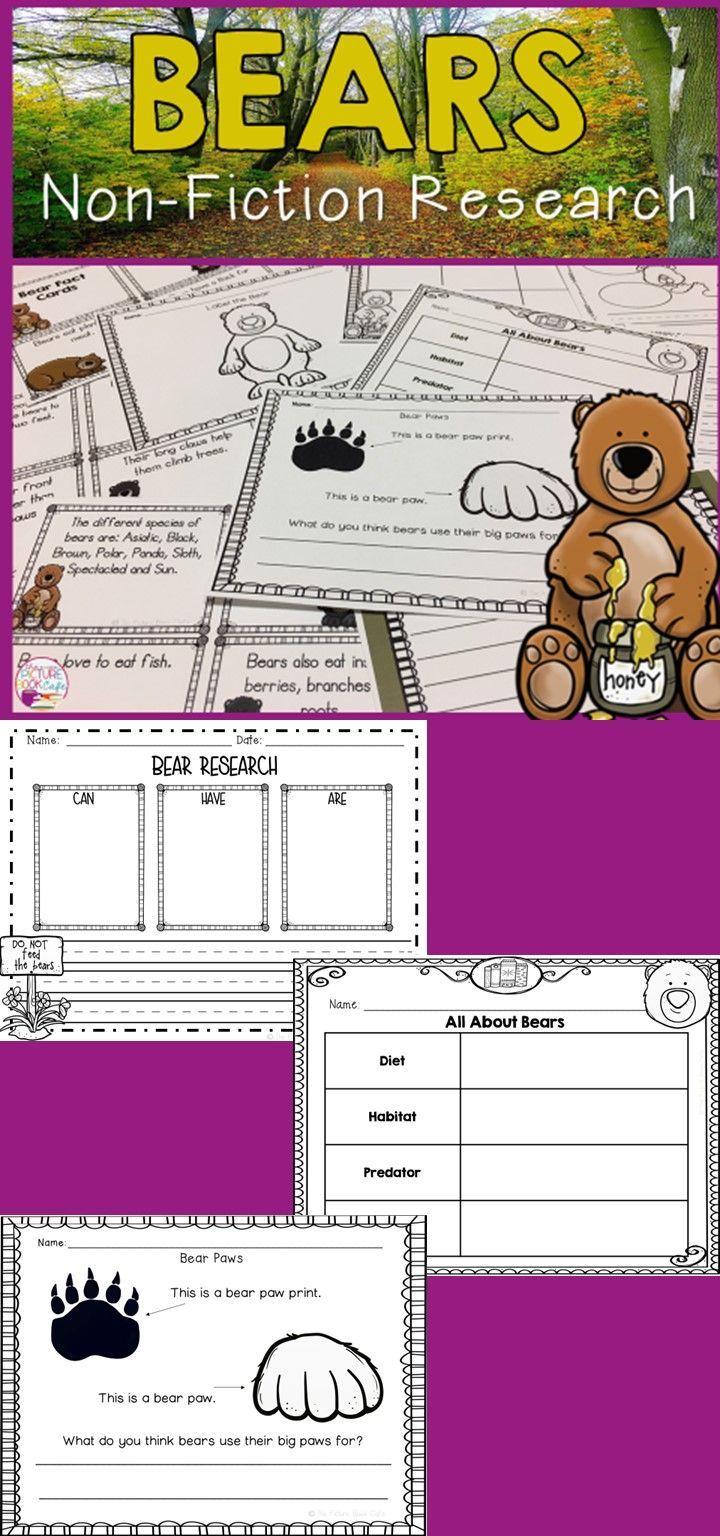 Bear Research report! Great for young learners! A fun way for students to research and learn about bears!