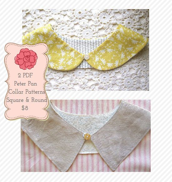 79 best images about detachable collars on pinterest for Peter pan shirt pattern