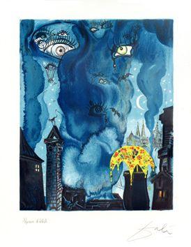 Dali Salvador : Lithographie originale signée : Le marchand de sable