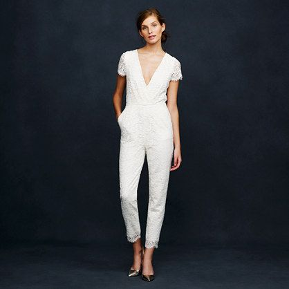 A bridal jumpsuit -- would you dare? Apparently this J Crew beauty is sold out!
