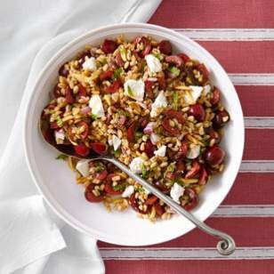 Cherry-Almond Farro Salad | Eating Well: Cherry Almonds Farro, Cherries Almonds Farro Salad, Cherries Recipe, Sweet Cherries, Cherries Salad, Salad Recipe, Almonds Salad, Healthy Recipe, Food Tips