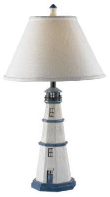 Lighthouse Table Lamp Nautical Home Decor