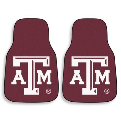 Ncaa texas am university car mat set of 2