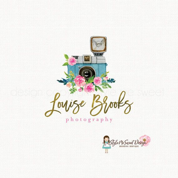 photography logo camera logo design by stylemesweetdesign on Etsy