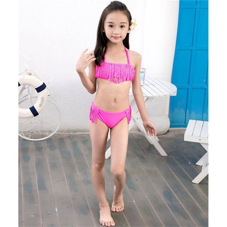 18.83$  Buy here - http://ali3m7.shopchina.info/go.php?t=32802265158 - Girl Bikini Split Swimsuit Kids Swimwear Girls Bikini Set Creative Hot Drill Nylon Spandex Bathing Suit Sex Costume 7-16 years  18.83$ #buychinaproducts