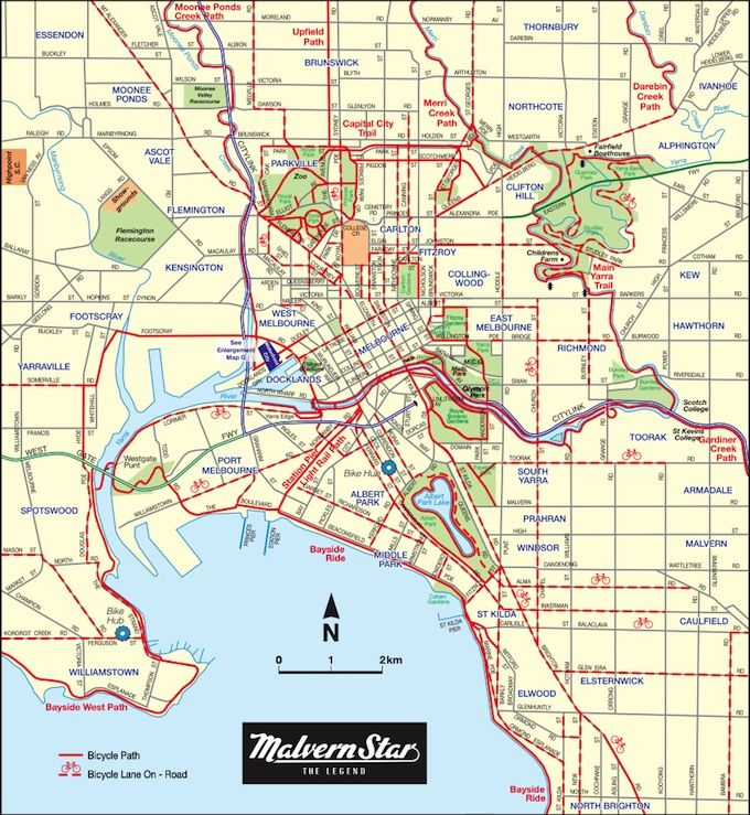 Melbourne bike routes ...let's ride to work
