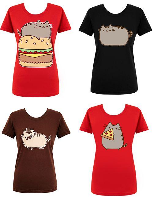 pusheen t-shirts | Pusheen T-Shirts From Hey Chickadee