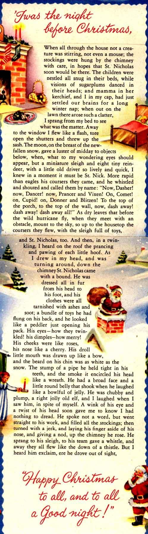 The Night Before Christmas - A Descriptive Bibliography of Clement Clarke Moore's Immortal Poem - Nancy H. Marshall