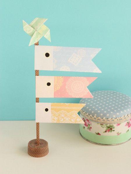 キュートな手作りこいのぼり!親子の共同作業は折り紙と割り箸で
